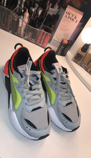 Puma RSX hard drive grey neon yellow and orange size 6C for Sale in Los Angeles, CA