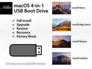 MacOS 4-in-1 Boot Drive - Catalina - Mojave - High Sierra - Sierra for Sale in Chandler, AZ
