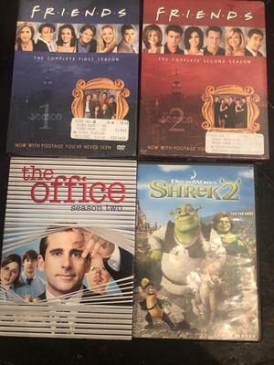 NIB FRiends Season 1 & 2, The Office & Shrek 2 for Sale in Riverside, CA