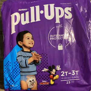 Huggies pull ups 2t-3t and 3t-4t $6 each pack for Sale in San Bernardino, CA