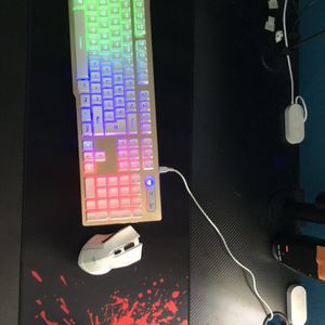 Wire Less Keyboard And Wireless Mouse With Charging Cable For Keyboard Gaming for Sale in Miami, FL
