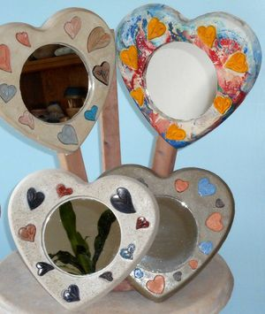 Stone, heart shaped, wall mirrors for Sale in Orlando, FL