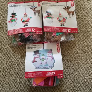 Set of three Christmas crafts to make foam ornaments 12x3=36 for Sale in Renton, WA