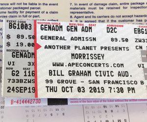 Morrissey tickets for Sale in Oceano, CA