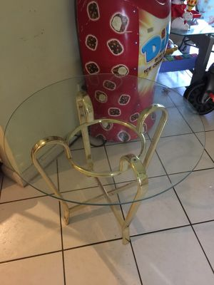 Metal glass top end table. for Sale in West Palm Beach, FL
