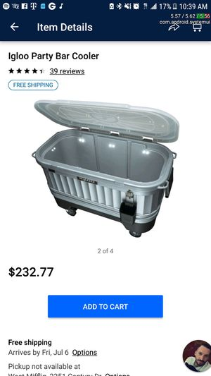 IGLOO party cooler with LED lights, bottle opener and ice scoop holder for Sale in Pittsburgh, PA