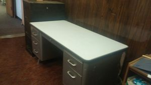 Heavy duty desk and filing cabinet for Sale in Valley View, OH