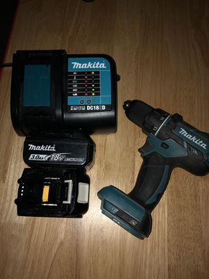 MAKITA 18V BL Drill w (2) 3.0 batt & charger for Sale in AR, US