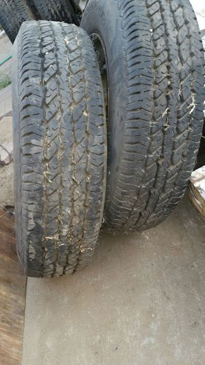 2 tires like new...16.5 size with 8 lug wheels for Sale in Lodi, CA