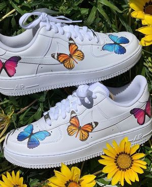 Air Force 1s Butterfly | Custom Shoes | Vans for Sale in Corona, CA