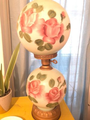 Antique Gone with the Wind Glass Hurricane Lamp for Sale in Winter Park, FL