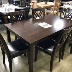 (BRAND NEW) 7-PC Breakfast Kitchen w/ 6 Chairs for Sale in Houston, TX