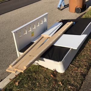 Free Curbside - Tire & Twin Bed Frame for Sale in Abington, PA