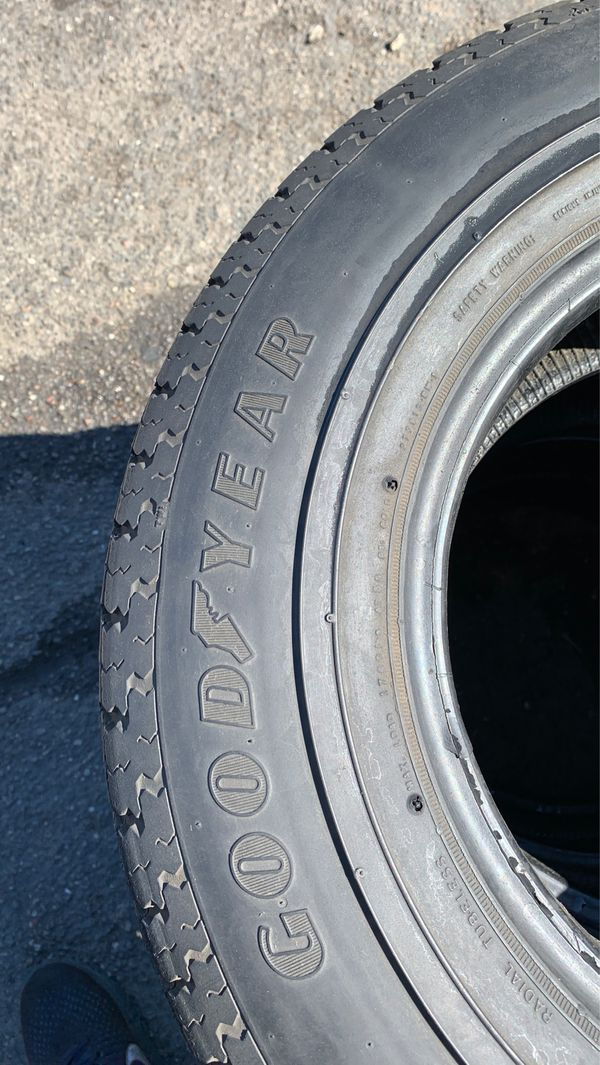(4) 205/75/14 GOOD YEAR TRAILER TIRES GOOD CONDITION