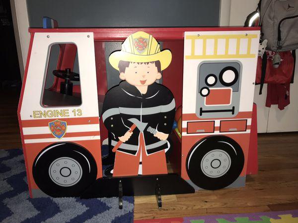Kids Fire Engine Desk/Chair Set