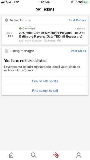 Baltimore Ravens Playoff tickets Game 1 for Sale in Severna Park, MD