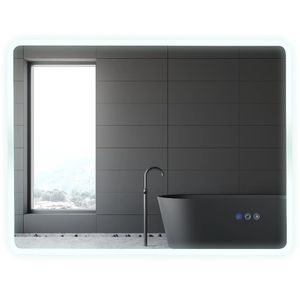 LED Lighted Wall Aluminum Glass Mirror 3 Colors Touch Button for Sale in Arlington, TX