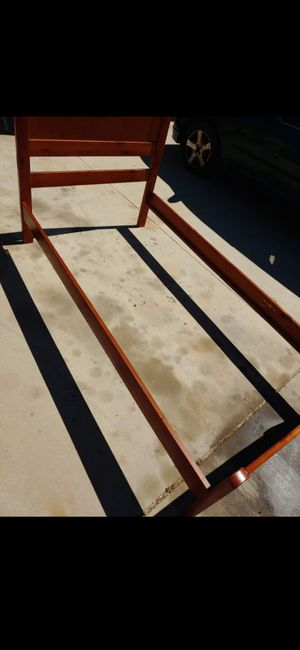 Nice wooden twin bed frame for Sale in Lancaster, CA