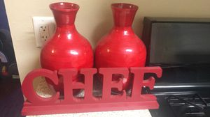 Red kitchen decorations for Sale in Norco, CA