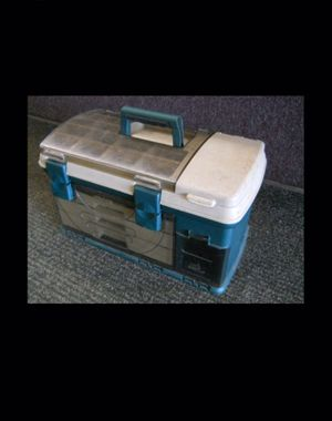 LARGE TACKLE BOX PLANO 737 3-DRAWER FISHING GEAR for Sale in Columbus, OH