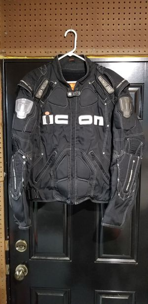 Icon Timax Titanium reinforced riding jacket for Sale in Oak Grove, IL