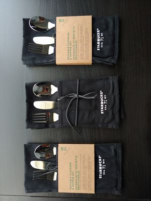 Starbucks reusable flatware and napkin set for Sale in Los Angeles, CA