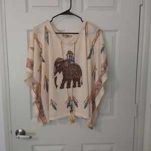 Wayan Poncho Shirt - One Size Fits All Up To Large for Sale in Austin, TX