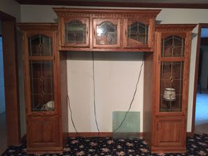Large lighted oak entertainment for Sale in Spencer, IN