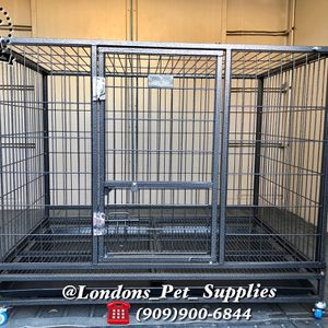"""NEW! 43"""" Foldable Heavy-Duty Dog Cage (Kennel) (Crate) for Sale in Colton, CA"""