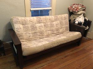 Wood futon with mattress for Sale in Orlando, FL