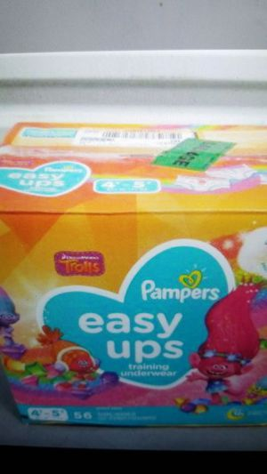 Pampers Easy Ups Training Pants Girls and Boys, Size 6 (4T-5T), 56 Count, Super Pack for Sale in Clovis, CA
