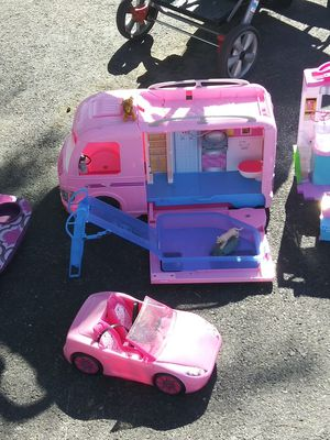 A Barbie camper motorhome with the car in decent condition as is for Sale in North Las Vegas, NV