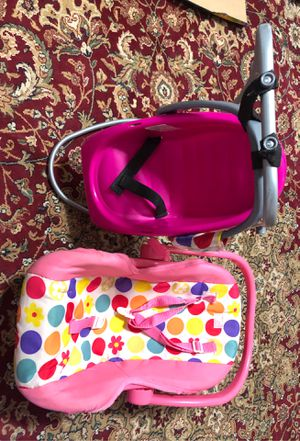 Doll swing , stroller and car seat set for Sale in Des Plaines, IL