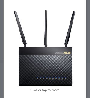 ASUS - Wireless-AC1900 Dual-Band Wi-Fi Router - Black for Sale in Sunnyvale, CA