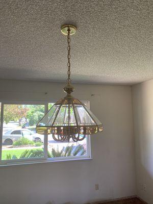 Beautiful light fixture chandelier - works great! for Sale in Clovis, CA