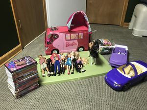 Barbie dolls, cars, camper& movies & accessories for Sale for sale  Howell, NJ