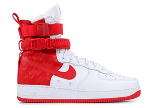 NIKE SF-AF1 Hi Air Force 1University Red White Special Forces AR1955-100 sz 9.5 for Sale in Chevy Chase, MD