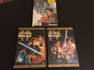 Star Wars 2 - Attack of The Clones (Widescreen) & Star Wars 4 - A New Hope (Full Screen) for Sale in Baltimore, MD