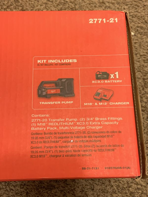 Milwaukee M18 Transfer Pump Kit