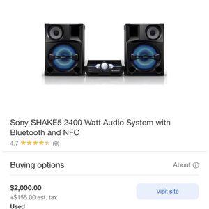 Sony Shake 5 LBT-SH2000 for Sale in Escondido, CA