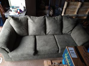 couch olive green color for Sale in Amarillo, TX
