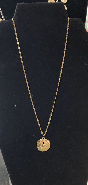 Yellow Gold Plated 925 sterling Sand Dollar Necklace for Sale in Stuart, FL