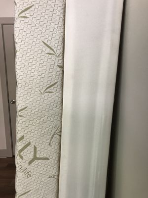 Twin Mlily Mattress + Box Spring + Adjustable Metal Bed Frame for Sale in Dallas, TX
