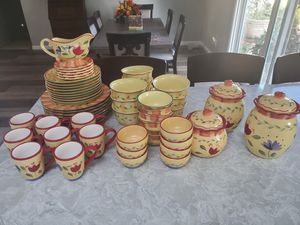Pfaltzgraff Napoli dishes an canster set for Sale in Riverside, CA
