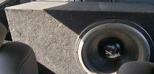 "Hifonics 15"" sub in ported box Mb quart 2500 watt amp for Sale in Fresno, CA"