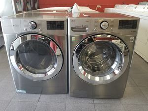 L.g true steam front load washer and dryer set. for Sale in New Port Richey, FL