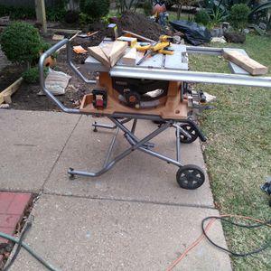 "Ridgid Table Saw 10"" for Sale in Grand Prairie, TX"