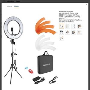 Neewer 18inch Ring Light for Sale in Lutz, FL