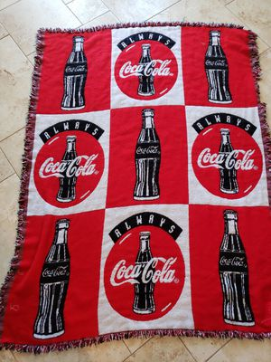 Vintage coca cola throw or Tapestry for Sale in Glendale, AZ