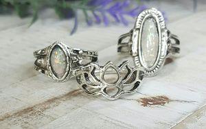 New, Size 7 Opal Vintage Bohemian Style Rings for Sale in Wichita, KS